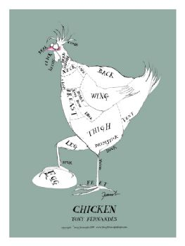 Chicken Cuts - signed print